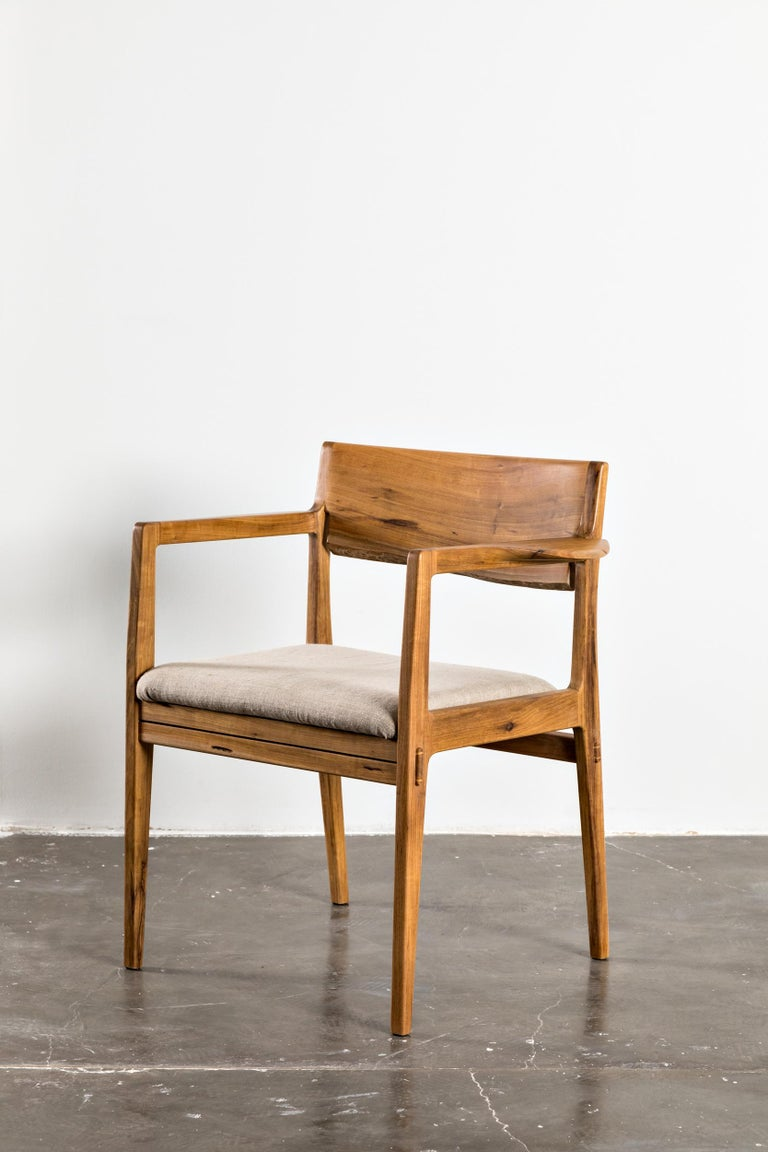Contemporary armchair made with unique reclaimed