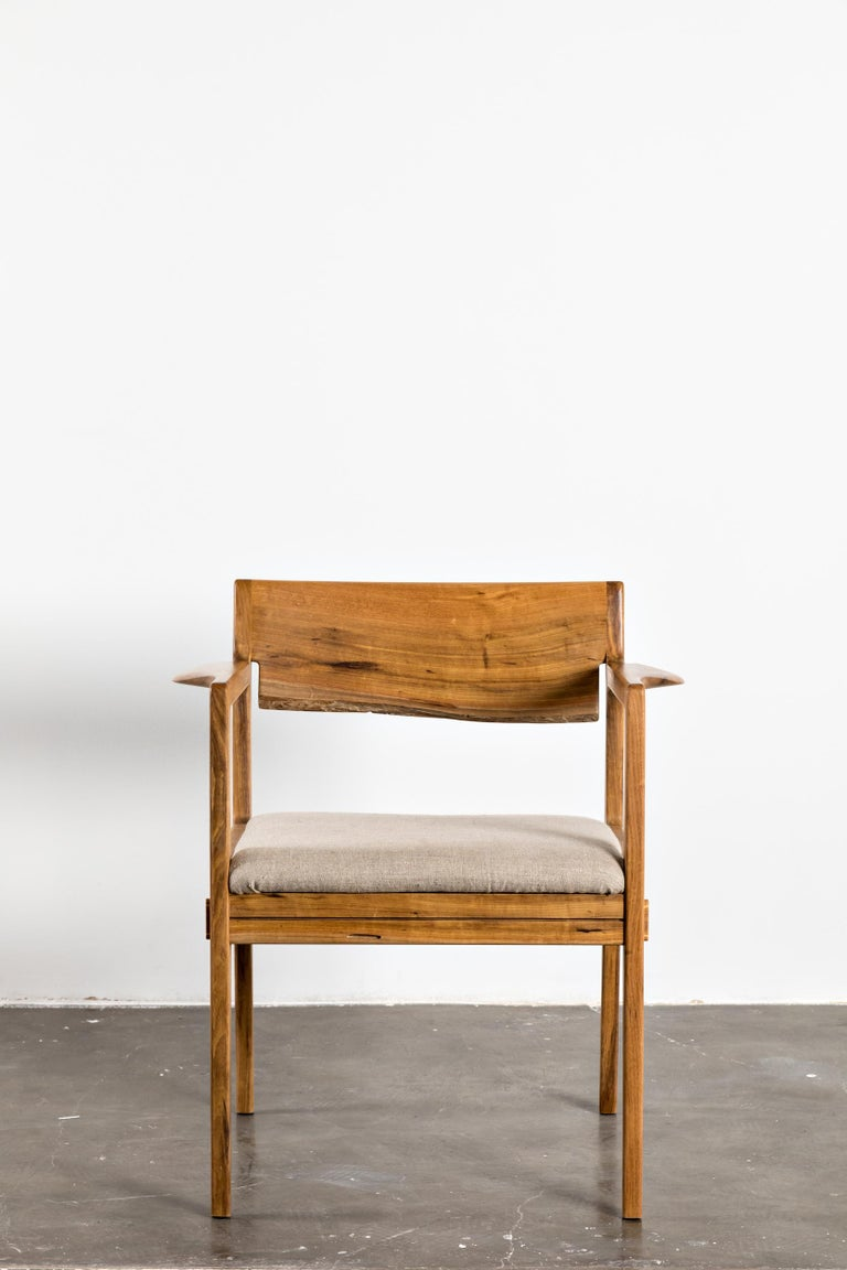 Hand-Crafted Contemporary Armchair in Brazilian Hardwood by Ricardo Graham Ferreira For Sale