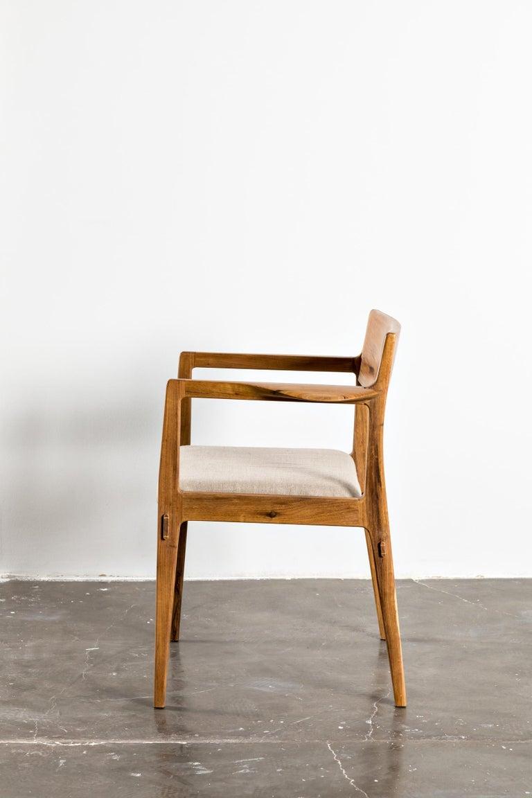Contemporary Armchair in Brazilian Hardwood by Ricardo Graham Ferreira In New Condition For Sale In Nova Friburgo, RJ