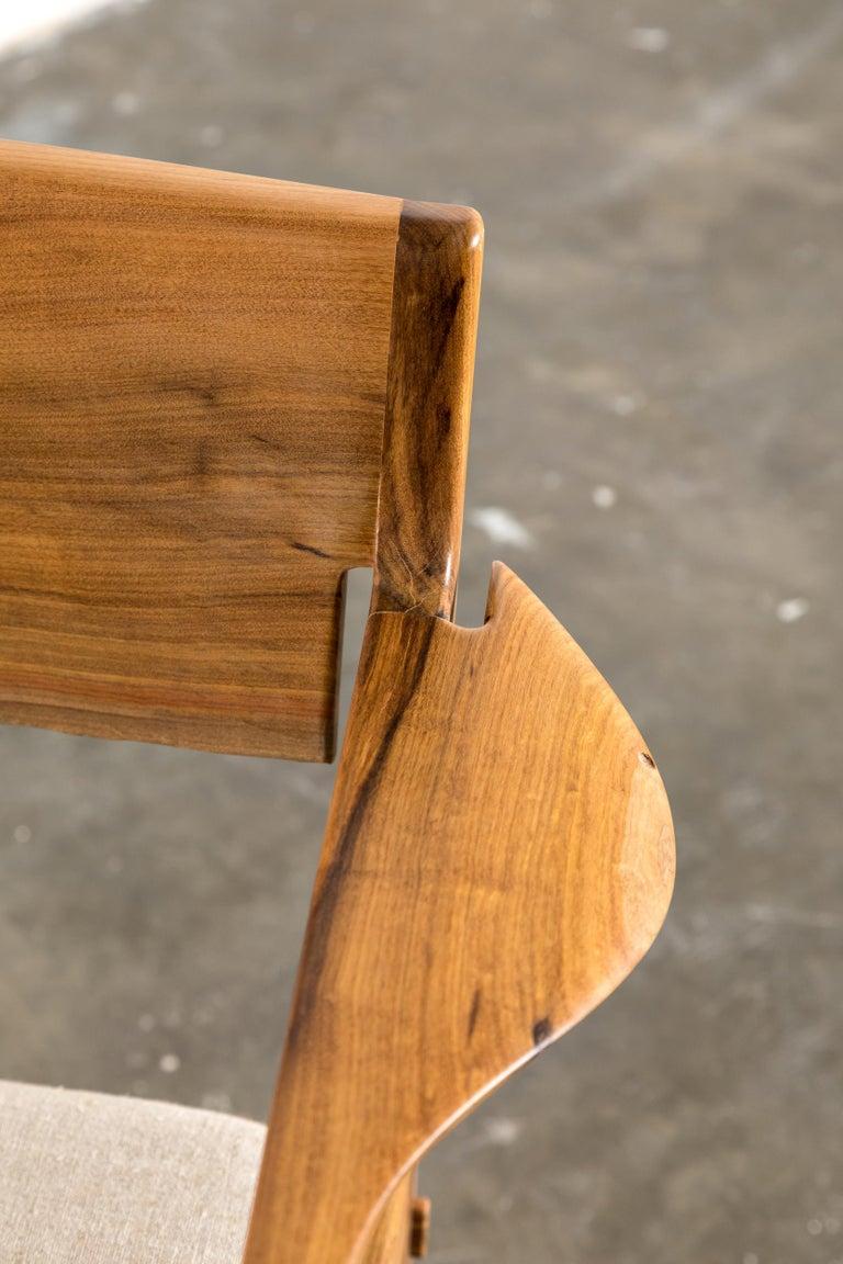 Contemporary Armchair in Brazilian Hardwood by Ricardo Graham Ferreira For Sale 1