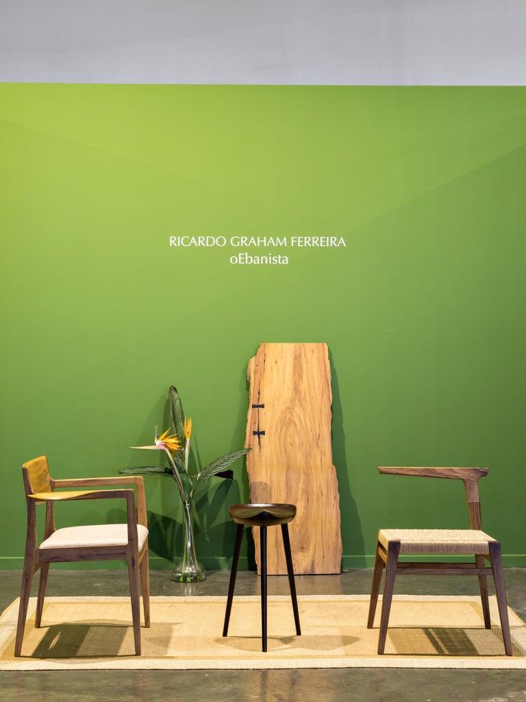 Contemporary Armchair in Brazilian Hardwood by Ricardo Graham Ferreira For Sale 2