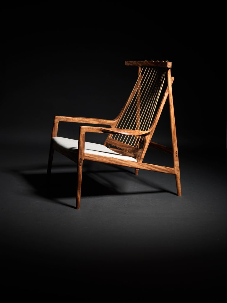 Contemporary Armchair in Brazilian Hardwood by Ricardo Graham Ferreira For Sale 5