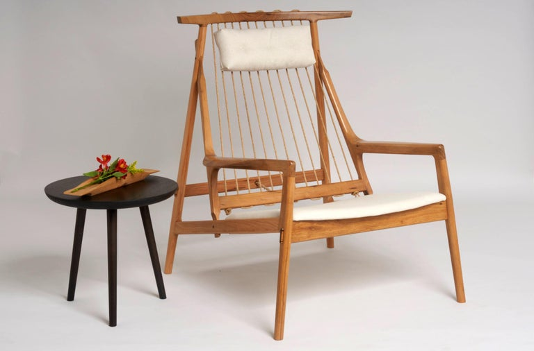 Brazilian Contemporary Armchair in Tropical Reclaimed Hardwood by Ricardo Graham Ferreira For Sale