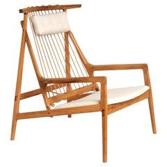 Contemporary Armchair in Tropical Reclaimed Hardwood by Ricardo Graham Ferreira