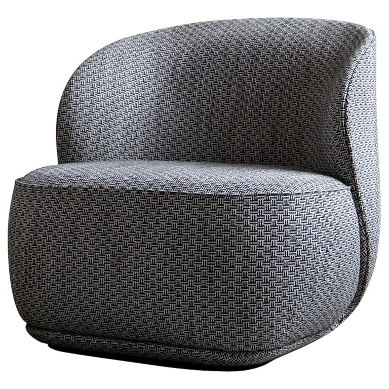Contemporary Armchair 'La Pipe Lounge' with Kvadrat Fabric