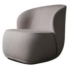 Contemporary Armchair 'La Pipe Lounge' with Kvadrat x Raf Simons Fabric