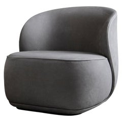 Contemporary Armchair 'La Pipe Lounge' with Nubuck Fabric
