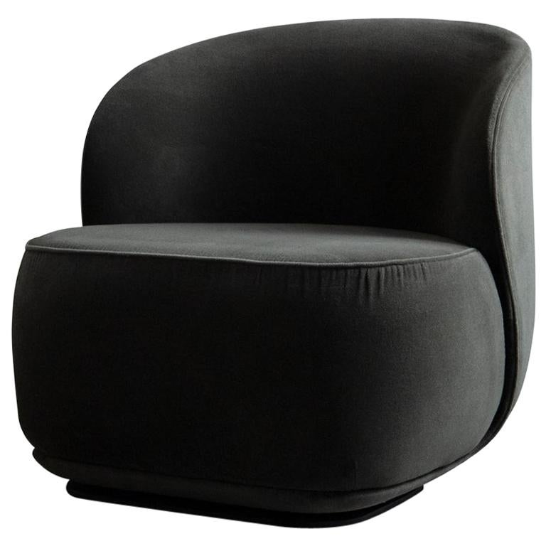 Contemporary Armchair 'La Pipe Lounge' with Velvet Fabric