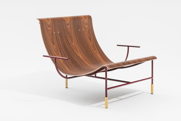 Other Contemporary Armchair Nuvola by Hannes Peer in Santos Rosewood and Full Leather For Sale