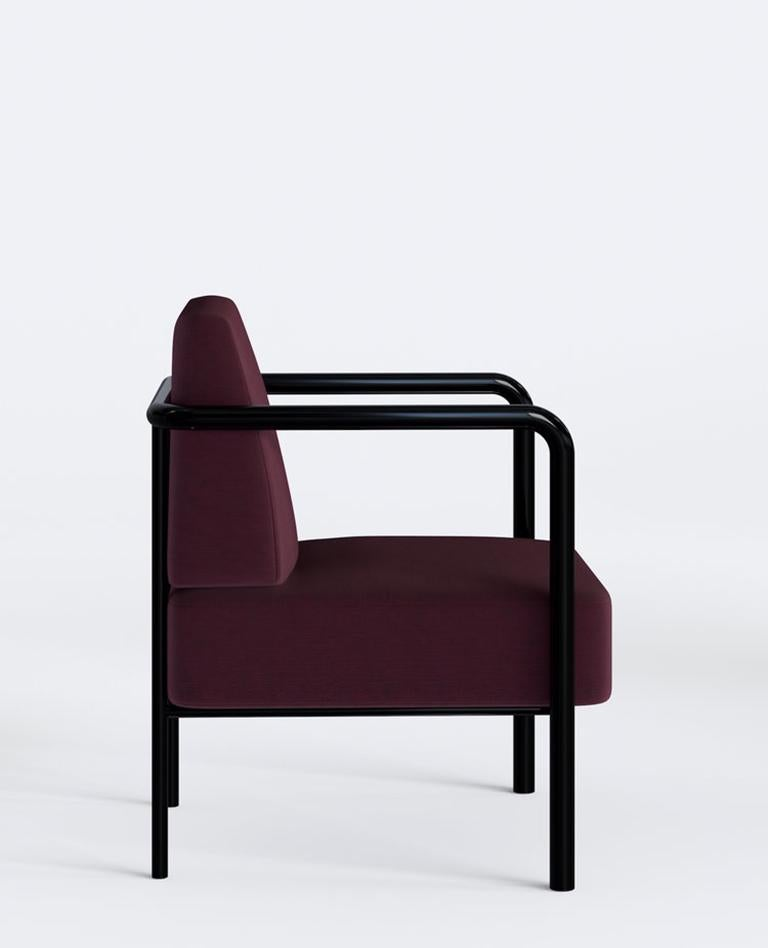 Contemporary Armchair Vintage Style Tilda Red Blue And