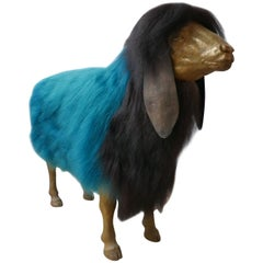 Contemporary Art Animal Sculpture by Jose Granell, Long Eared Sheep