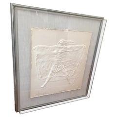 "Contemporary Art Bliefeld ""Deborah"" Framed Cast Paper Original"