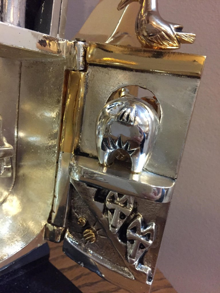 Hand-Crafted Contemporary Art Bronze Sculpture Frank Meisler Noah's Ark For Sale