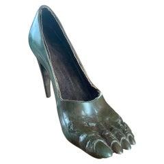 Contemporary Art Bronze Shoe by Stavri Kalinov, Certificate, 1980