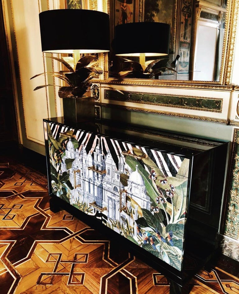 Hand-Crafted Italian Contemporary Art Credenza For Sale