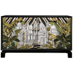 Italian contemporary art sideboard