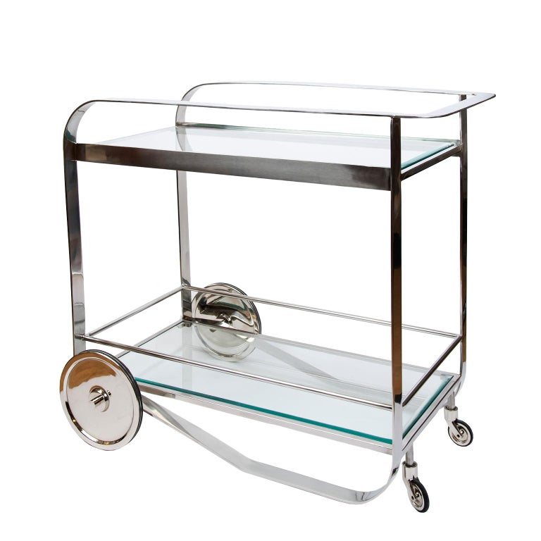 Contemporary Art Deco Style Bar Cart For Sale 1
