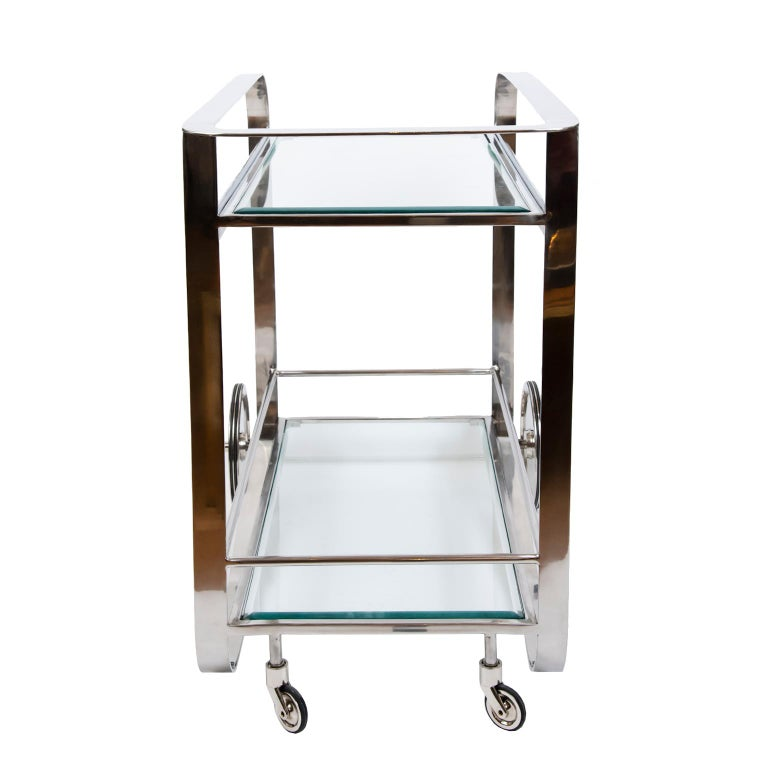 Contemporary Art Deco Style Bar Cart For Sale 2