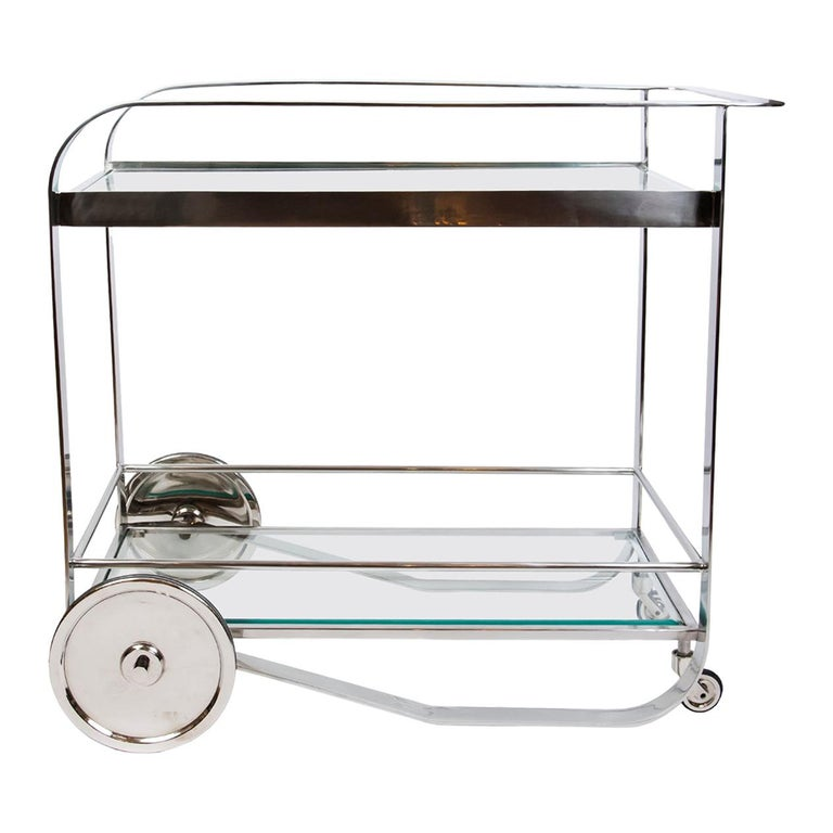 Contemporary Art Deco Style Bar Cart For Sale