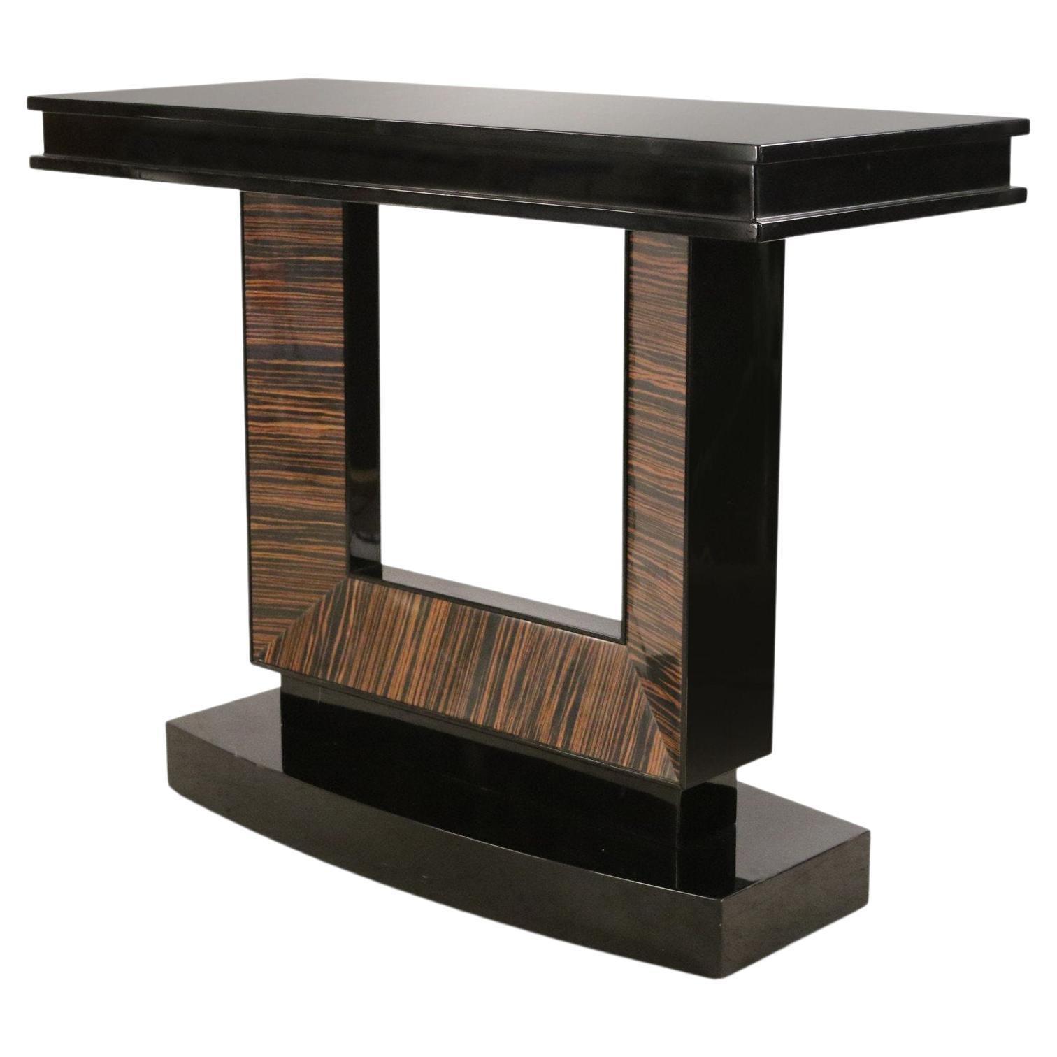 Contemporary Art Deco Style Palisander Veneer Console Table
