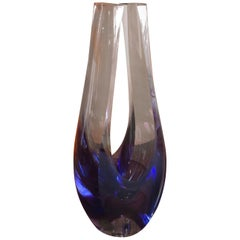 Contemporary Art Glass Vase / Sculpture by Kit Karbler & Michael David
