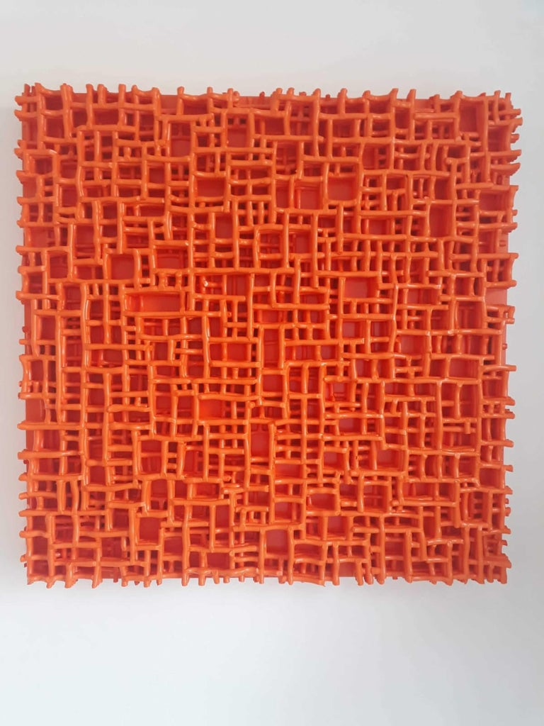 Contemporary Art, Minimal and Zero Art, Acrylic Fiber Weave Sculpture For Sale 4