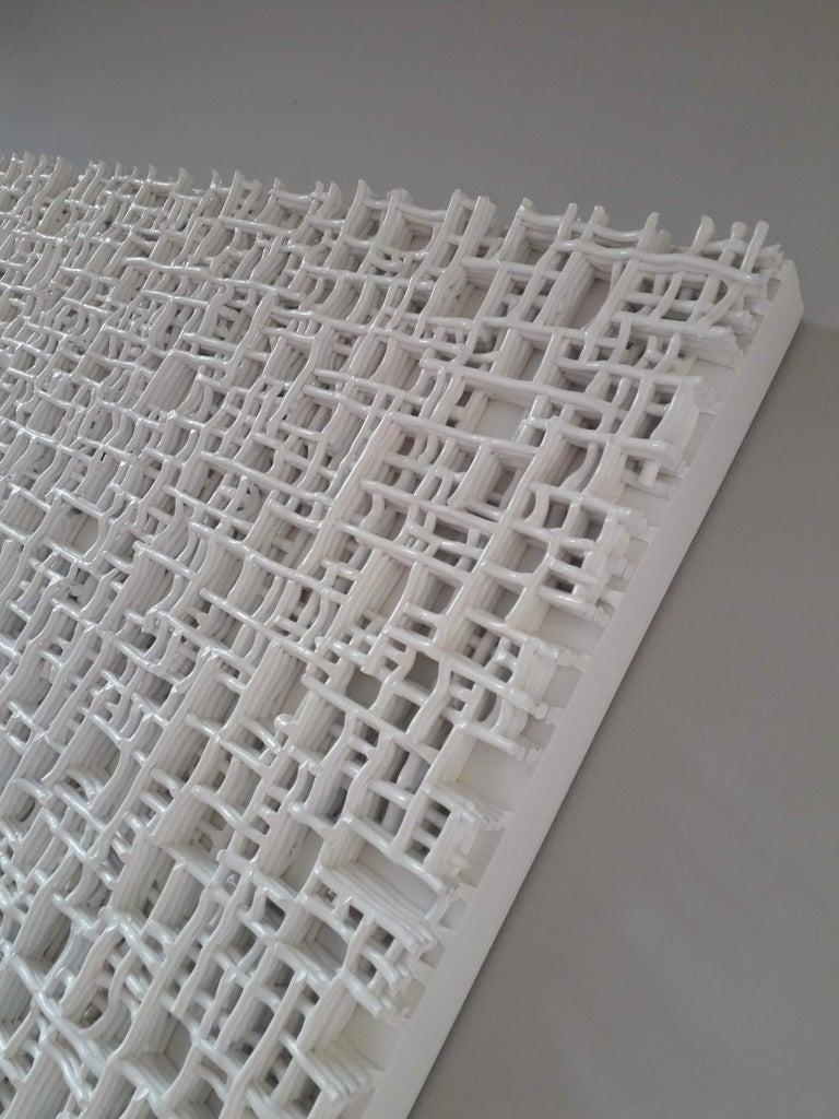 Minimalist Contemporary Art, Minimal and Zero Art, Acrylic Fiber Weave Sculpture For Sale