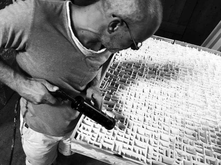 Dutch Contemporary Art, Minimal and Zero Art, Acrylic Fiber Weave Sculpture For Sale