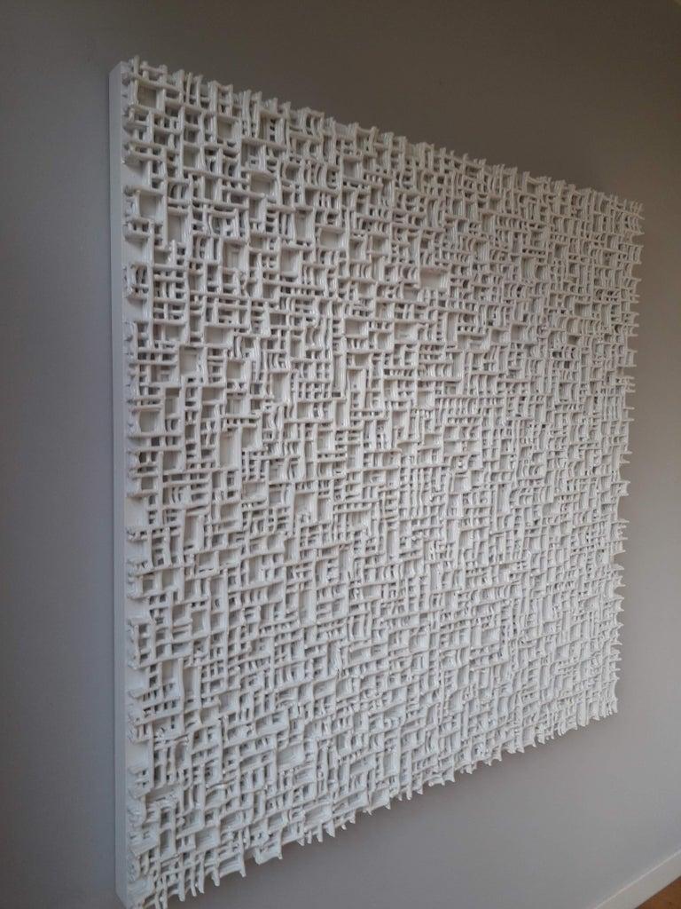 Contemporary Art, Minimal and Zero Art, Acrylic Fiber Weave Sculpture For Sale 2