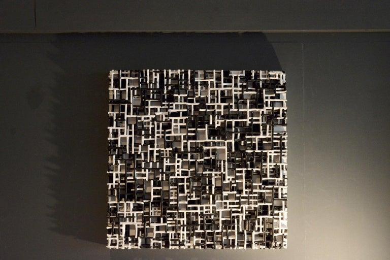 Contemporary Art, Minimal and Zero Art, Acrylic Fiber Weave Sculpture For Sale 3