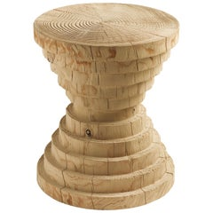 RIVA 1920, Astrati Stool by Michele de Lucchi, Cedar Wood, Made in Italy