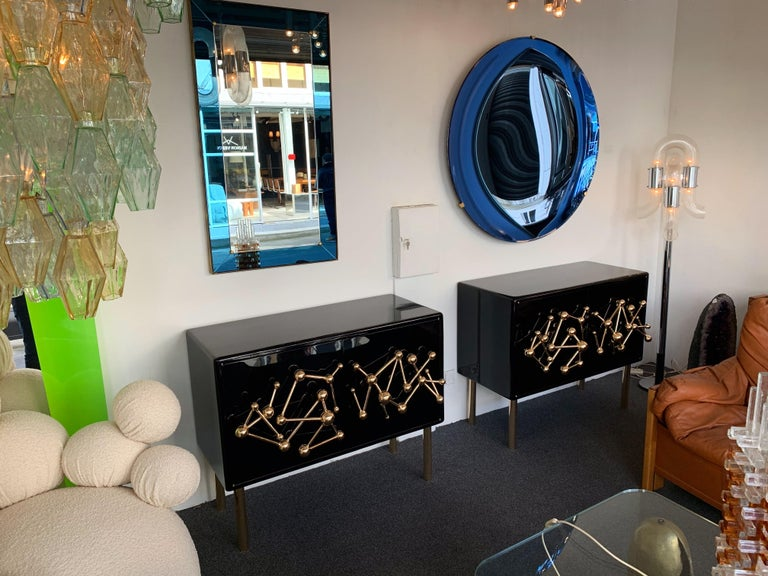 Contemporary Atomo Lacquered Cabinets Buffets by Antonio Cagianelli, Italy For Sale 4
