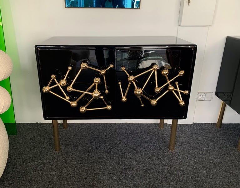 Contemporary Atomo Lacquered Cabinets Buffets by Antonio Cagianelli, Italy For Sale 1