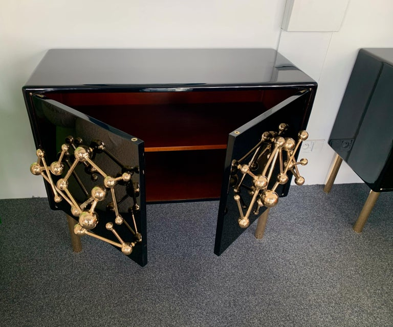 Contemporary Atomo Lacquered Cabinets Buffets by Antonio Cagianelli, Italy For Sale 2