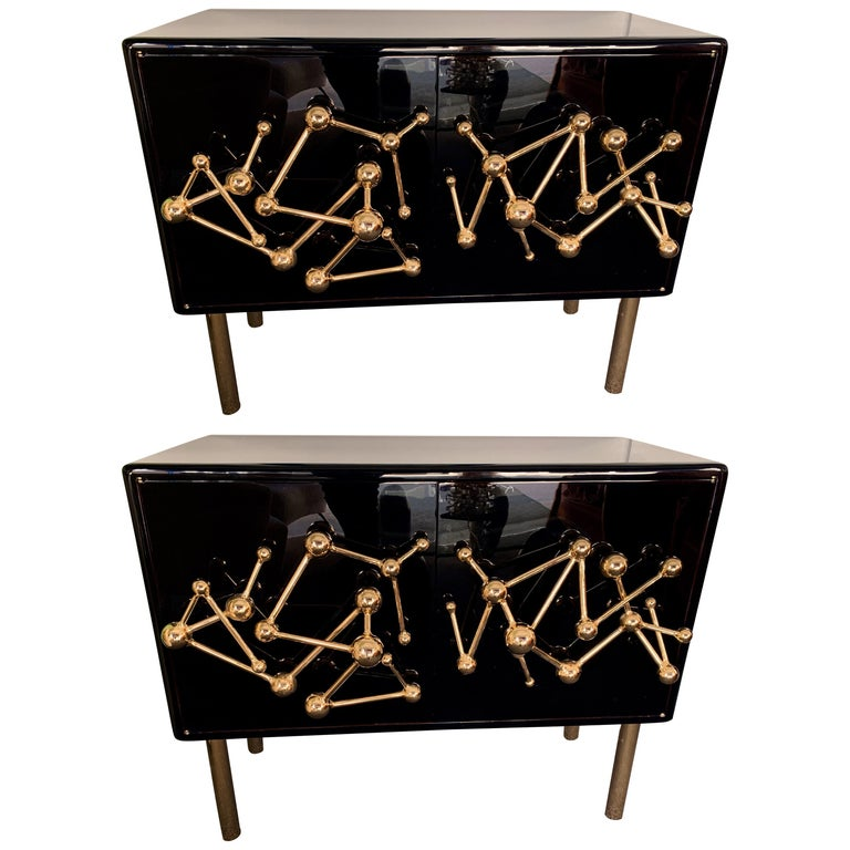 Contemporary Atomo Lacquered Cabinets Buffets by Antonio Cagianelli, Italy For Sale