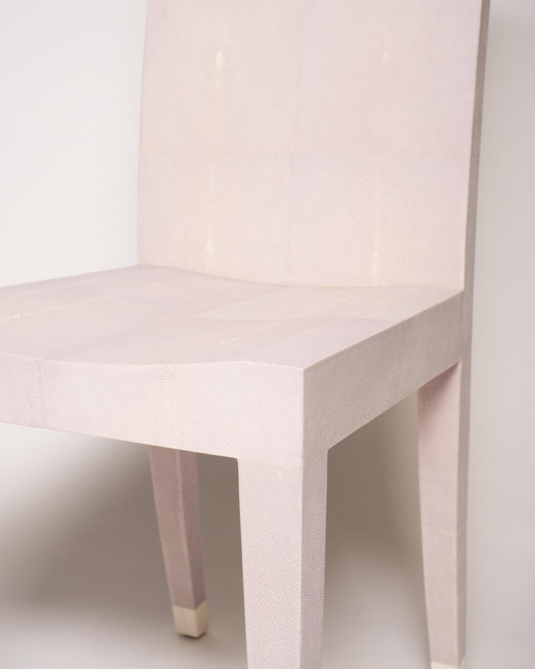 Philippine Contemporary Authentic Shagreen Lavender Chair For Sale