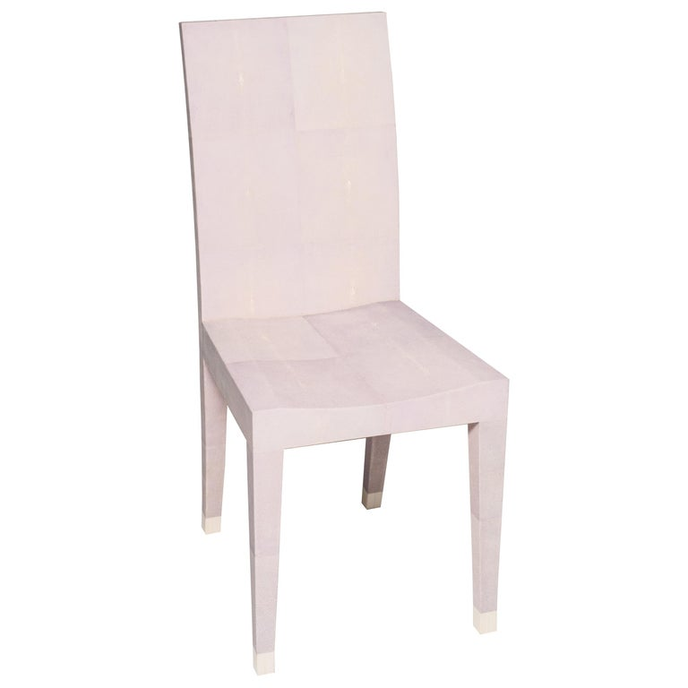 Contemporary Authentic Shagreen Lavender Chair For Sale