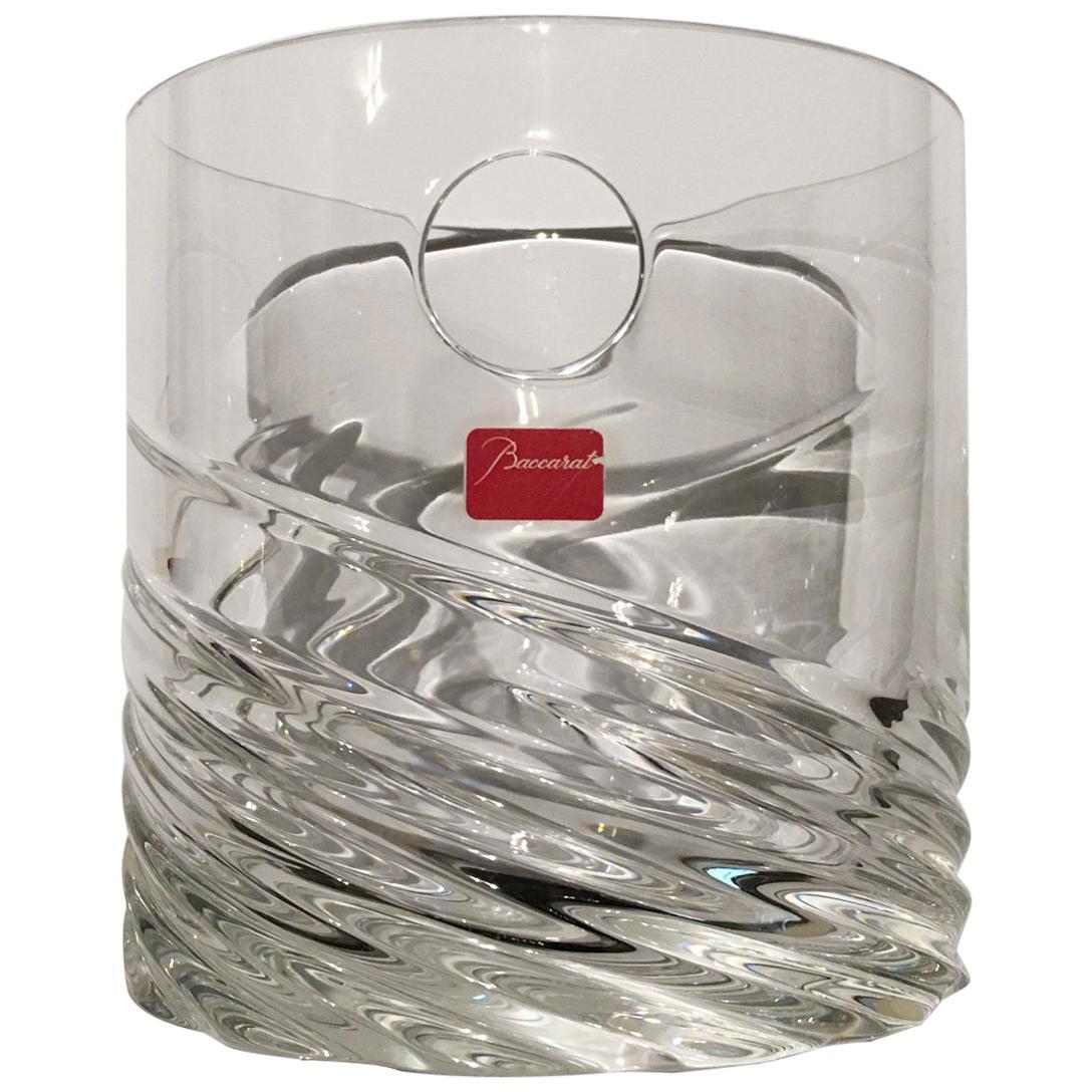 Baccarat Clear Crystal Modern Ice Bucket Vase, France