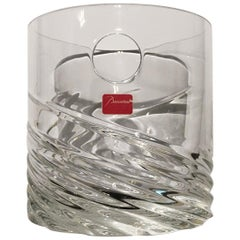 Contemporary Baccarat Clear Crystal Modern Ice Bucket Vase