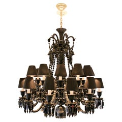 Contemporary Baccarat Zenith Black Crystal Noir Chandelier by Philippe Starck
