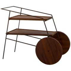 Contemporary Bar Cart or Tea Trolley by Zanini de Zanine Caldas