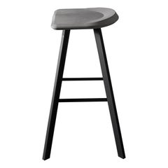 Contemporary Bar Stool 'A' Made of Concrete and Aluminum
