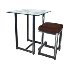 Contemporary Bar Table and Bar Stool