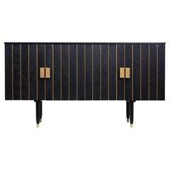 Contemporary Bardarbunga Sideboard in Black Ash, Charred Wood