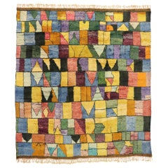 Contemporary Bauhaus Moroccan Rug, Cubism and Postmodern Style after Paul Klee