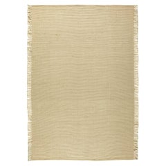 Contemporary Beige Flat-Weave Rug