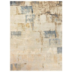 21st Century Beige, Taupe and Gold Wall-Sky Dreamy Rug