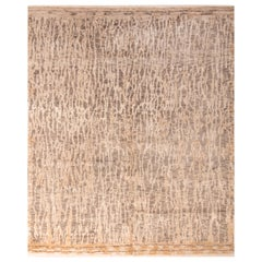 Contemporary Beige Wool Rug