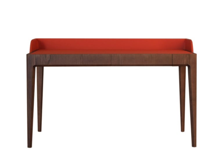 Hand-Crafted Bellagio Desk by Morelato, made of Ashwood with Leather Flapping Top For Sale