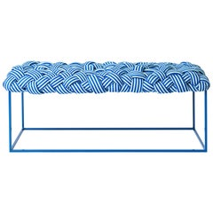 "Contemporary Bench Handwoven - the ""Cloud"" in Blue"
